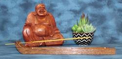Incense Holder, Brownheart Wood, Curved design