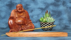 Incense Holder, Yucatan Rosewood, Flat design