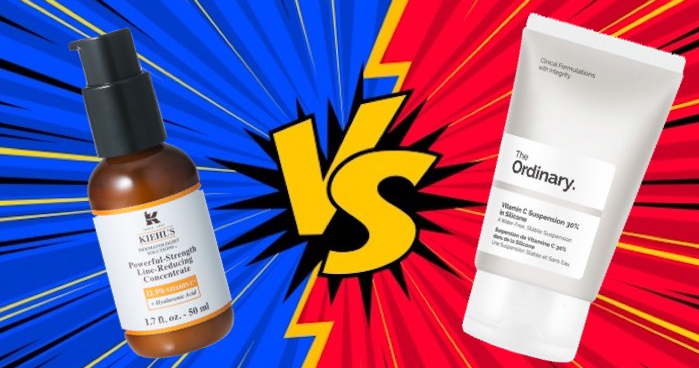 kiehl's vitamin c serum против ordinary