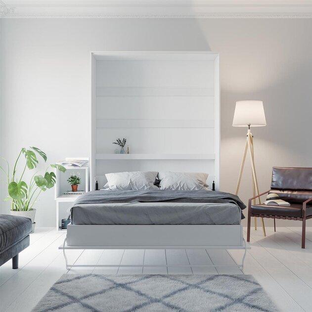 smartbett murphy bed vertical 140x200