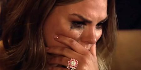 Hannah has some epic mascara tears
