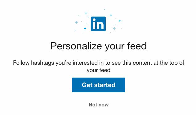 Följ hashtags på LinkedIn