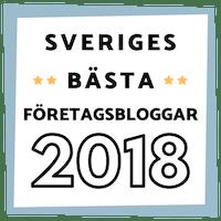 bästa företagsblogg 2018