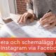 schemalägg inlägg Instagram