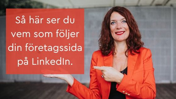 följer företagssida LinkedIn