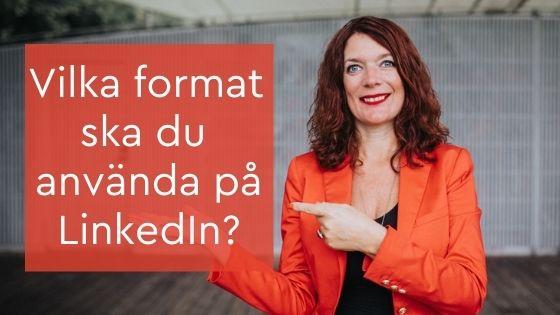 format på LinkedIn