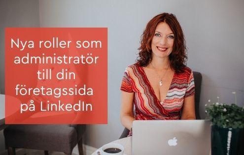 administratör LinkedIn företagssida