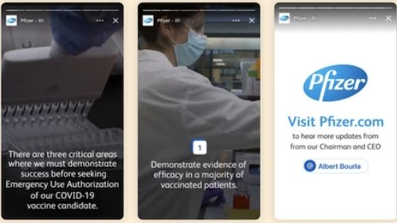 stories LinkedIn företag exempel