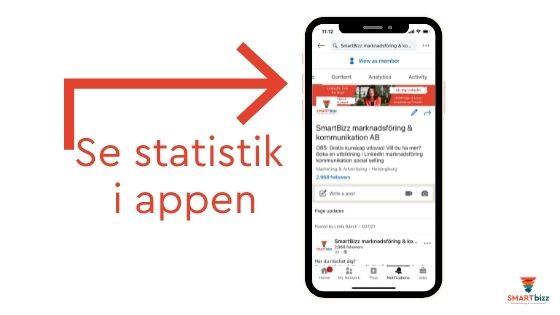 statistik i appen företagssidor