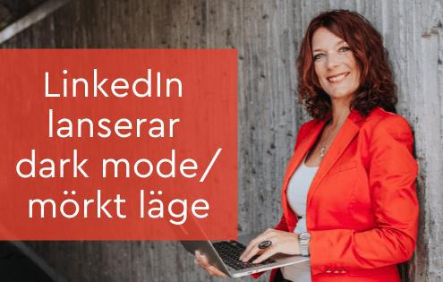 Dark mode LinkedIn