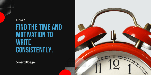 Stage 4: Find the time and motivation to write consistently.