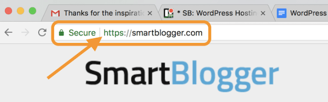browser address bar with https