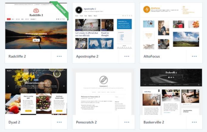 WordPress.com - Select your theme