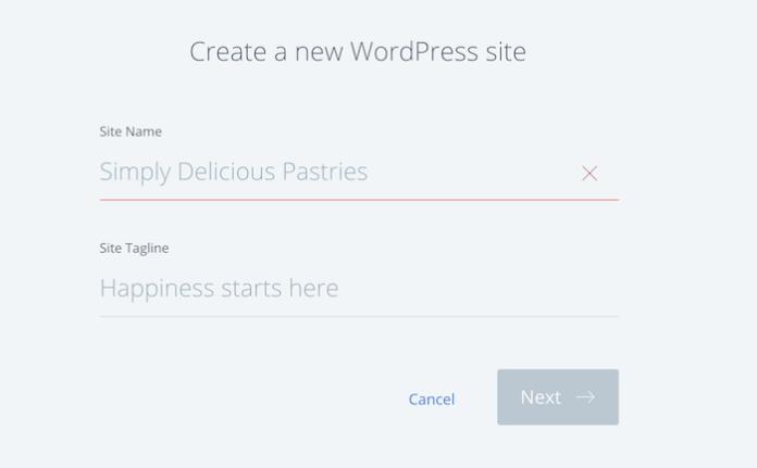 Name WordPress installation