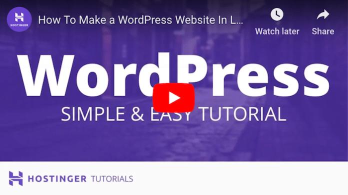 Hostinger WordPress Tutorial