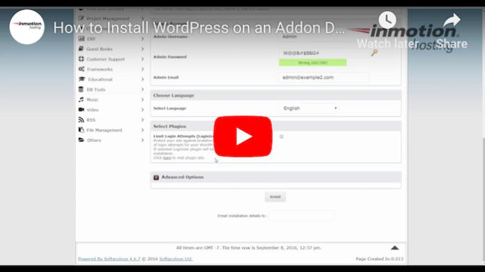 InMotion WordPress Tutorial