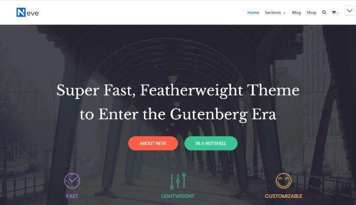 free wordpress themes neve