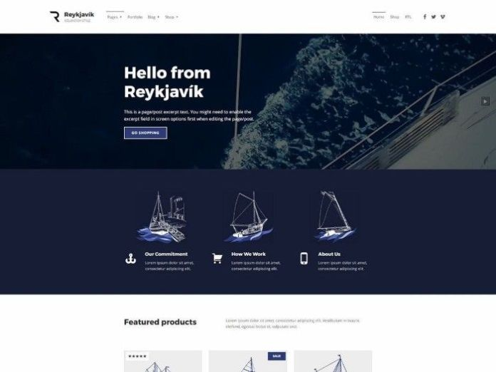 free wordpress themes reyjavik
