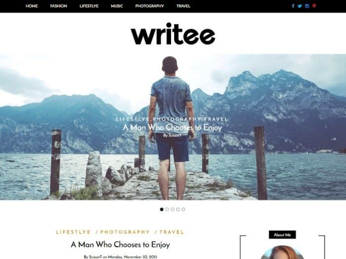 free wordpress themes writee