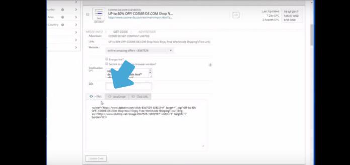cj affiliate grab code