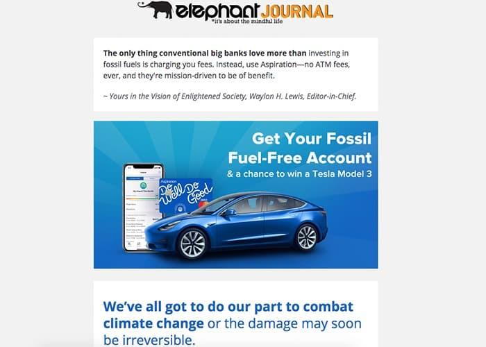 esempio omaggio di email marketing