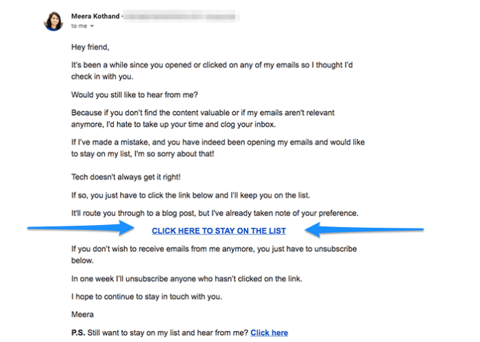 email marketing segment actions annotated