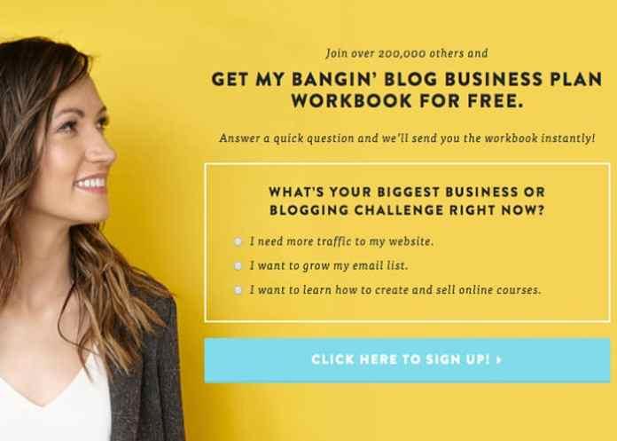 email marketing segment example