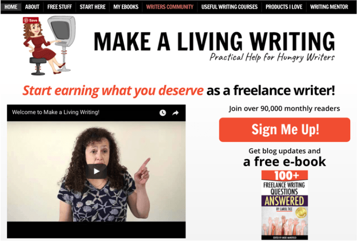 001 make a living writing