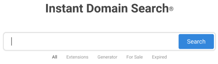 blog name generator instant domain search
