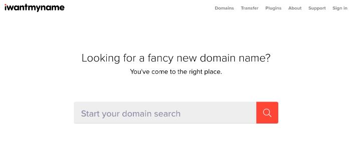 Generatore di nomi di blog iwantmyname