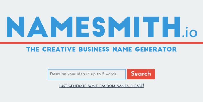fabbro del generatore di nomi di blog