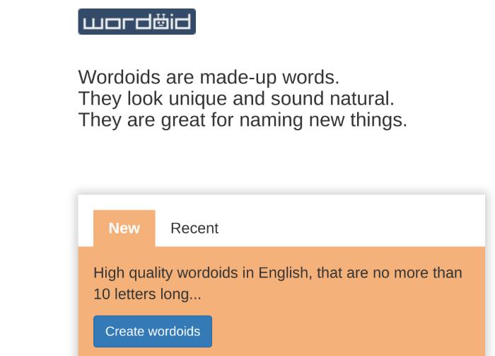 generatore di nomi di blog wordoid