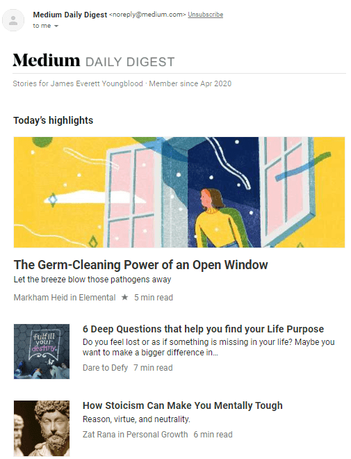 medium partner program medium daily email example