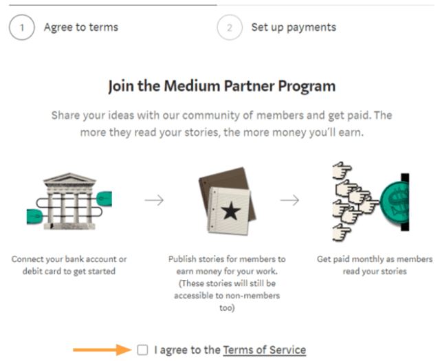 medium partner program terms of service