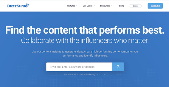 content marketing tools buzzsumo