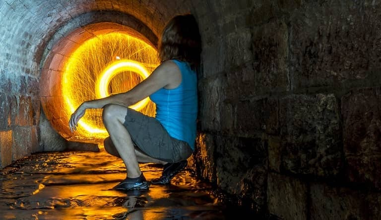 free stock photo woman and sparks