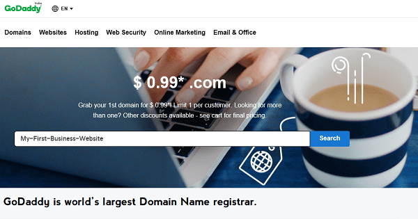 GoDaddy 0.99 Domain Name