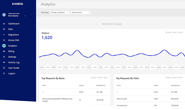 Kinsta Analytics