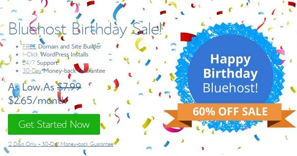Bluehost Birthday Sale