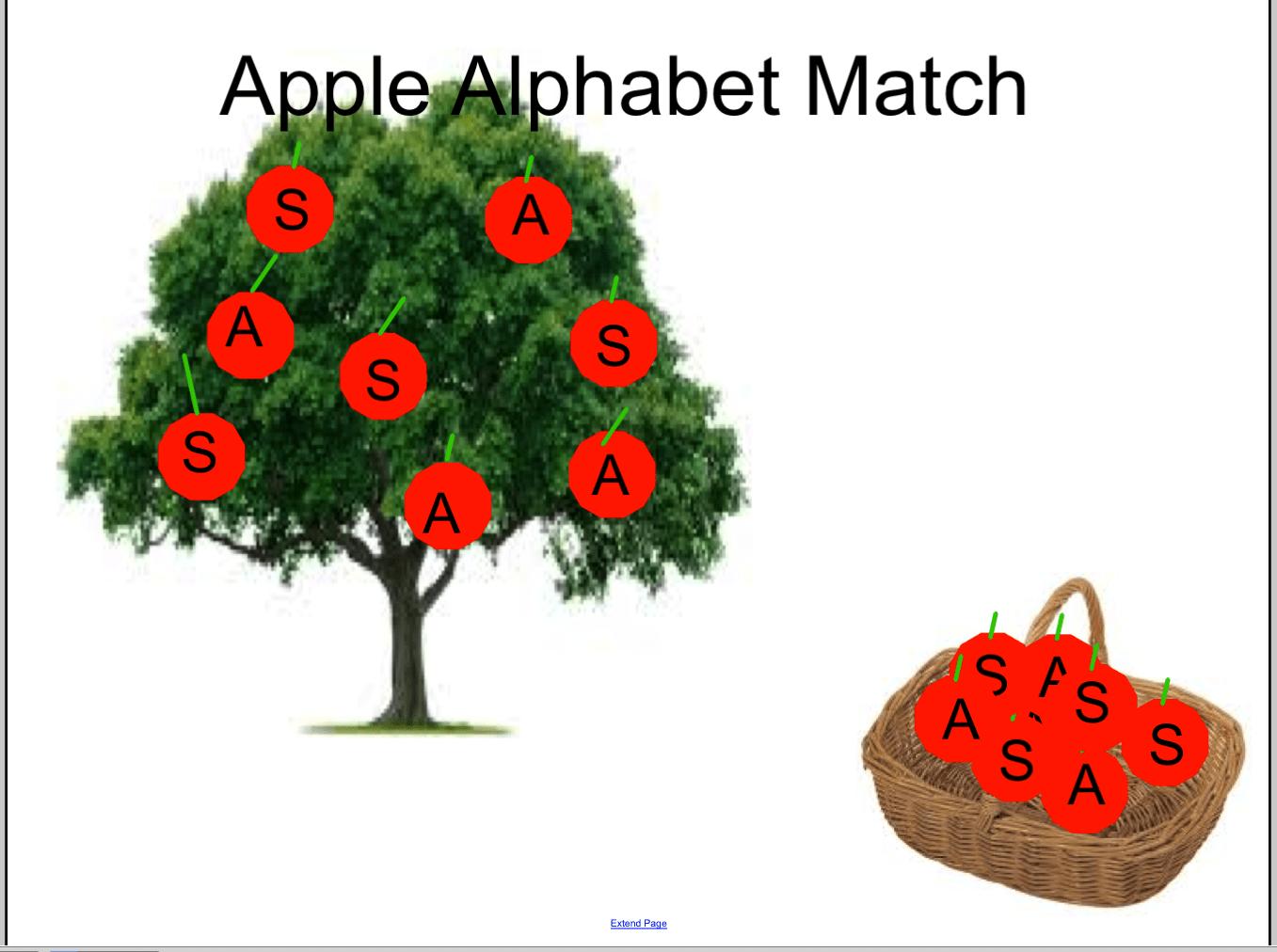 Alphabet Match S And A Smart Notebook Smart Board Ideas
