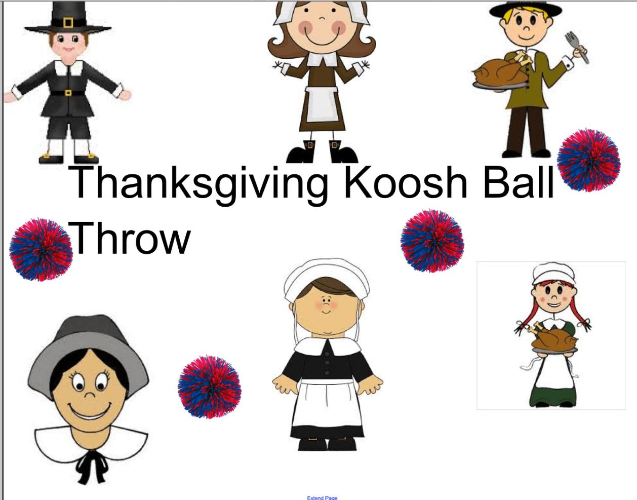 Thanksgiving Koosh Ball Throw Smart Notebook Smart