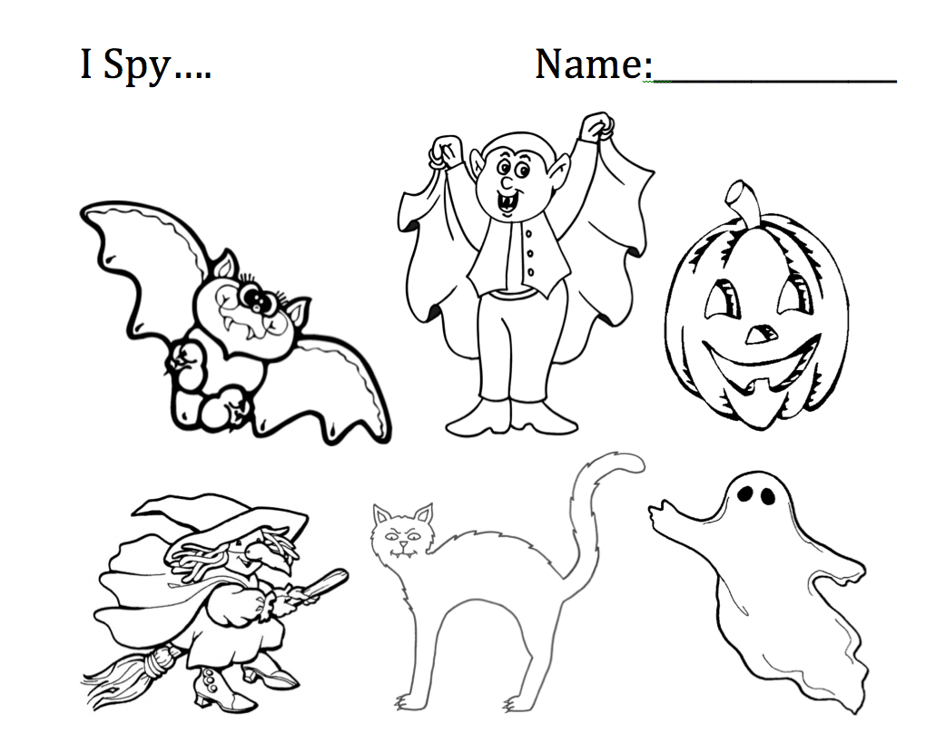 I Spy Halloween Worksheets Smart Board Ideas