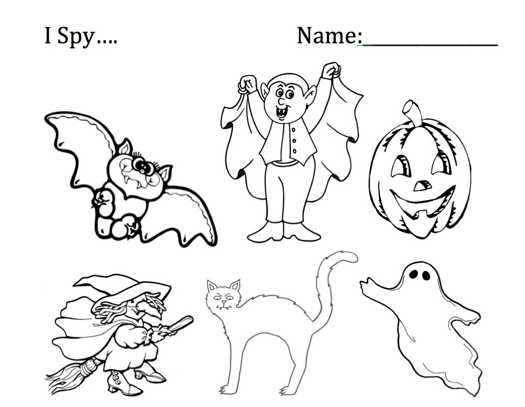 I Spy Halloween Worksheets Smart Board Ideas