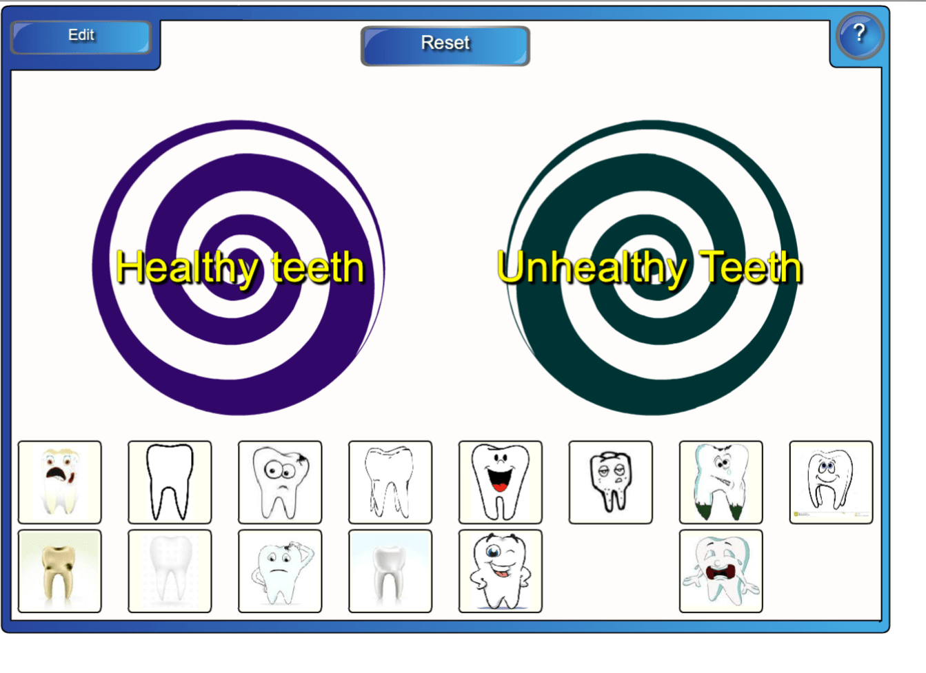 Sorting Healthy Vs Unhealthy Teeth Smart Notebook