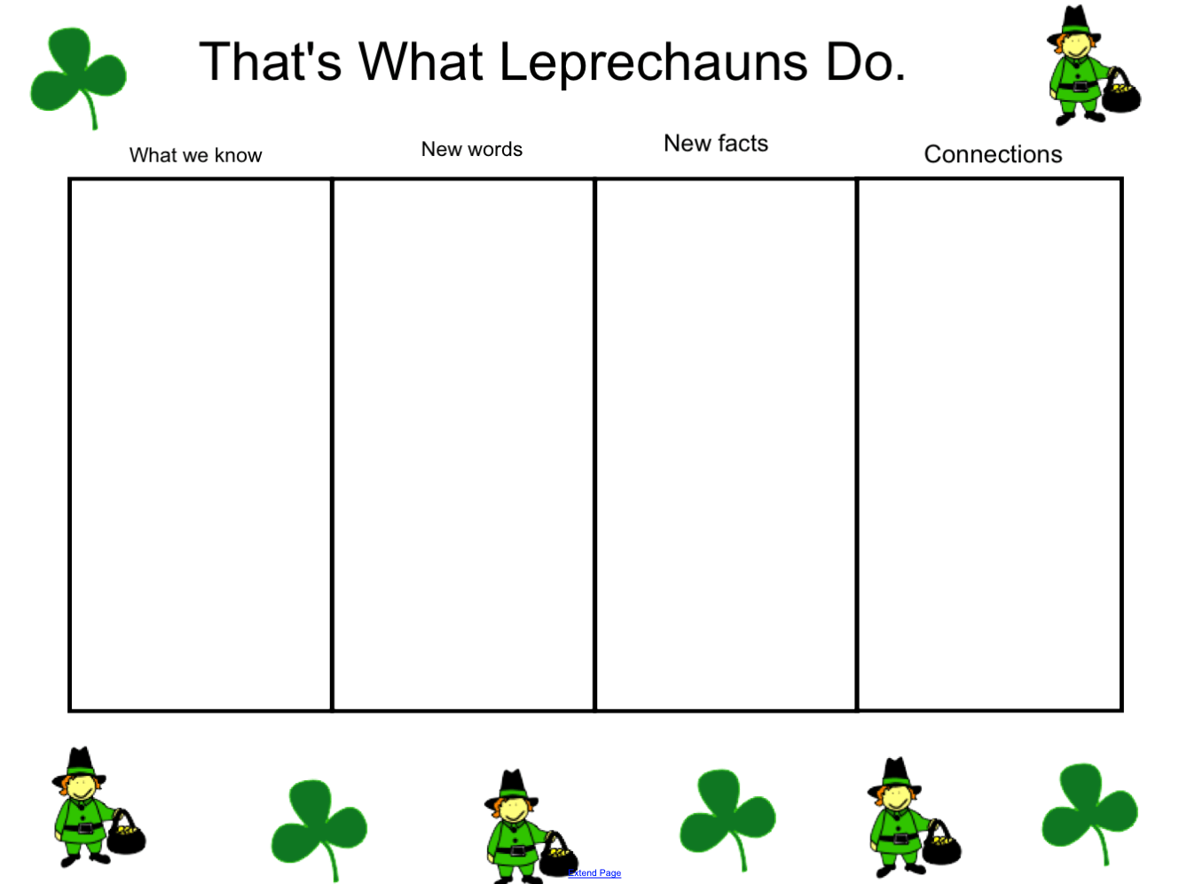 That S What Leprechauns Do Schema Chart Smart Notebook