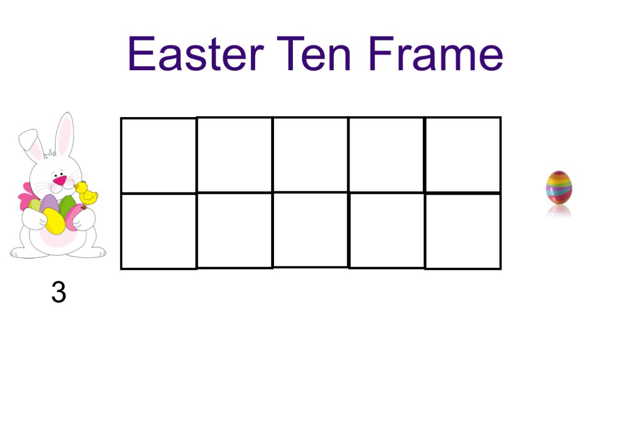Easter Ten Frame Smart Notebook Smart Board Ideas