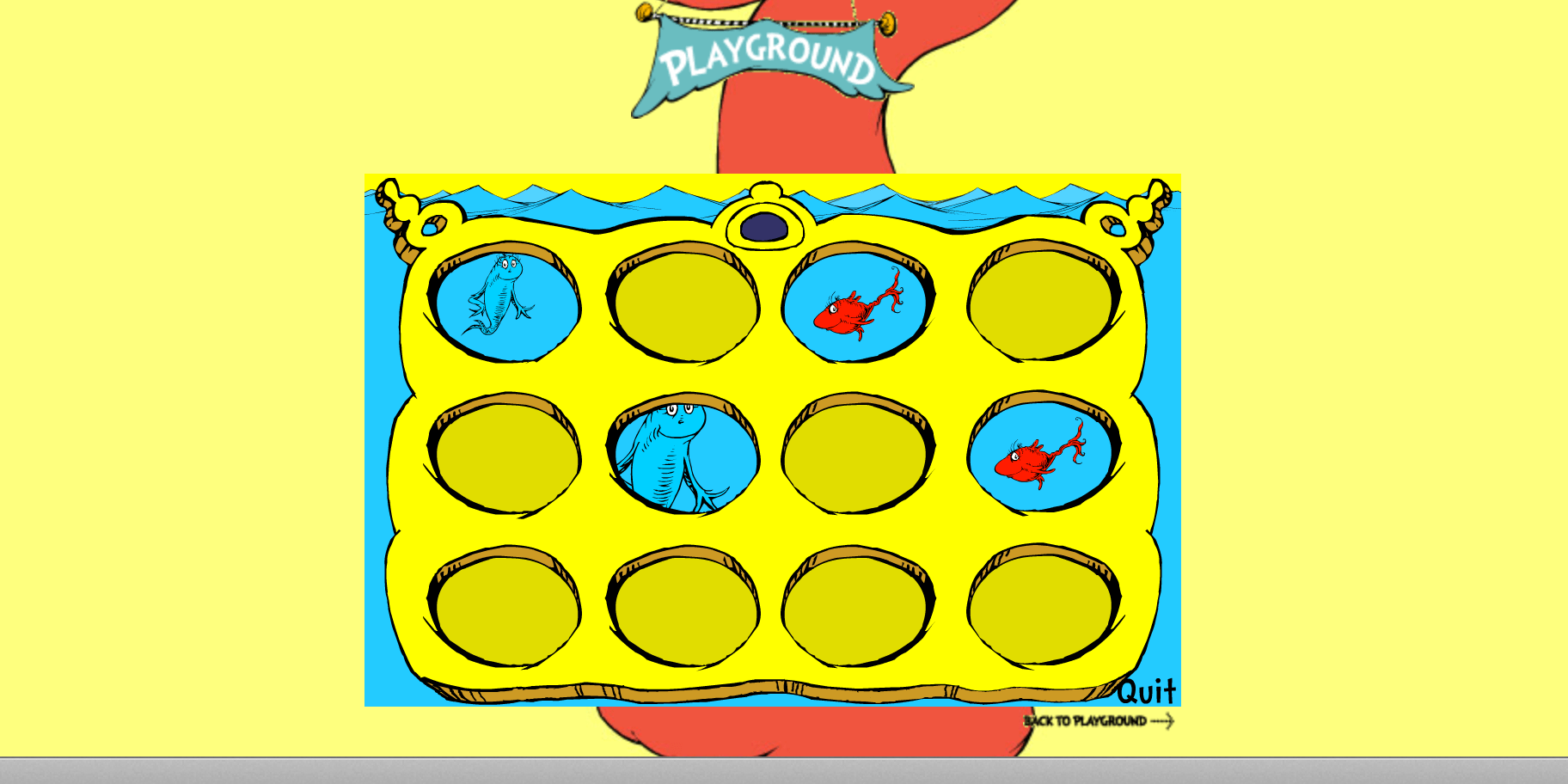 One Fish Two Fish Concentration Game Website Smart