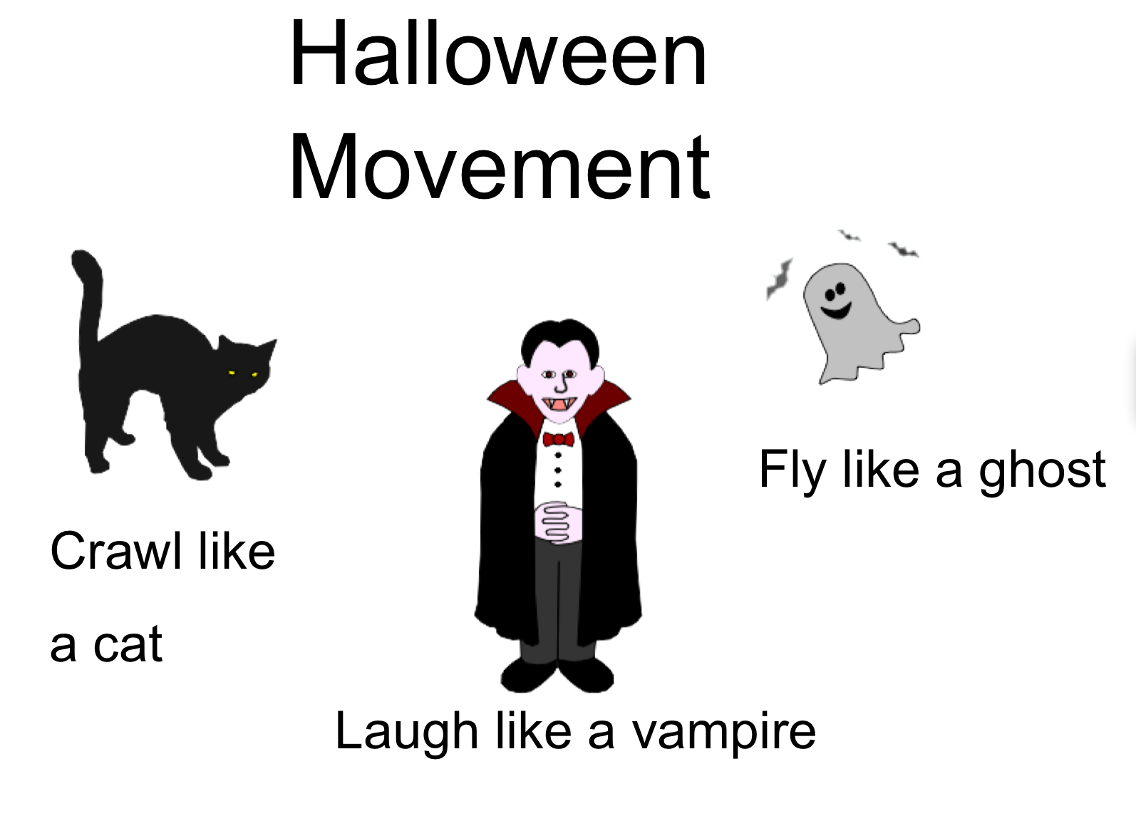 Movement Break Halloween Smart Board Ideas