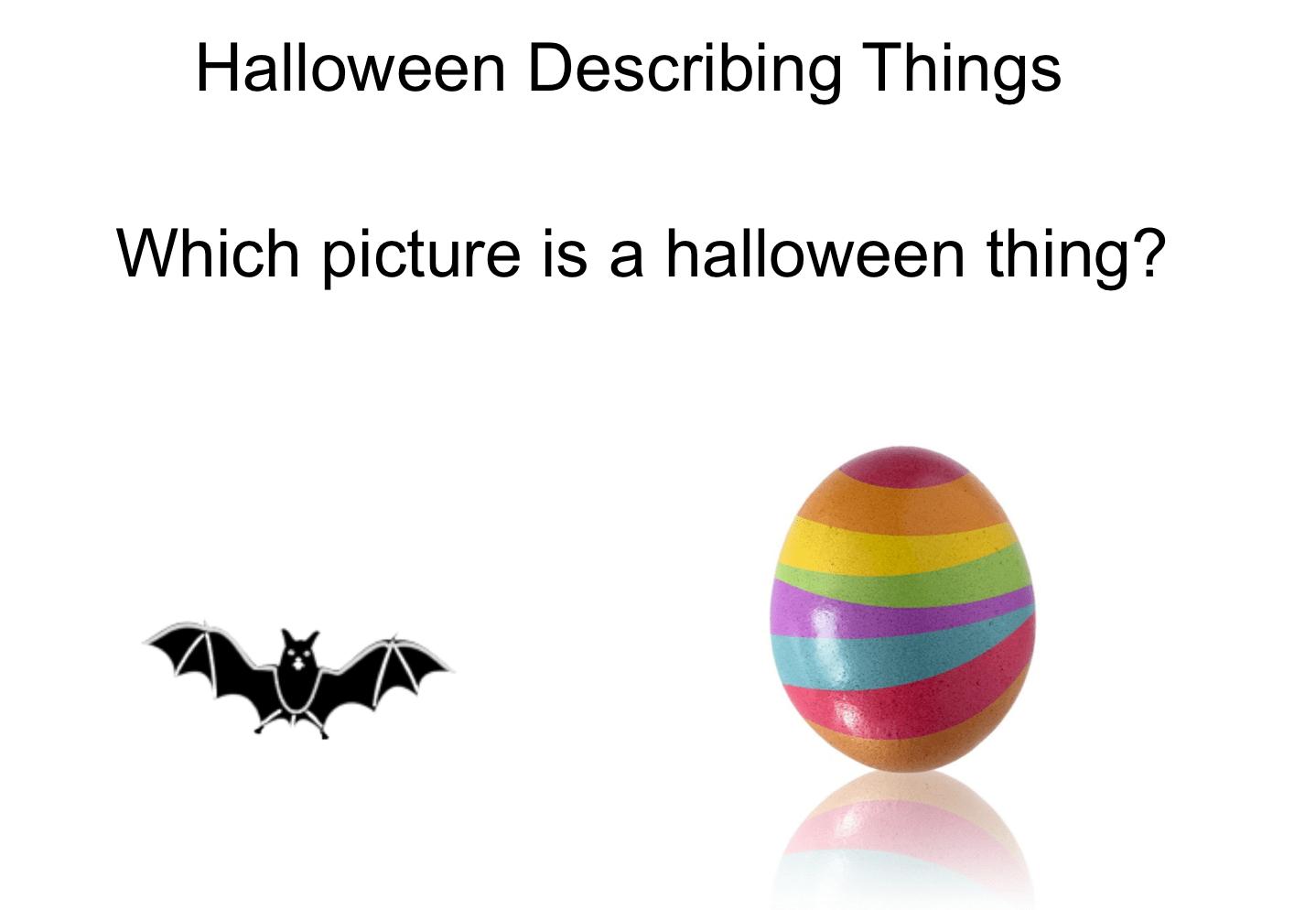 Halloween Describing Things Smart Notebook Smart Board
