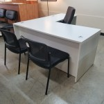 White Executive L Desk Reversible 66 X 72 Smart Buy Office Furniture Office Furniture Austin Used Office Furniture